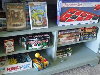 Indian Creek house photo - lots of board games for the kids and playstation