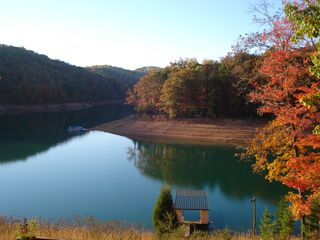 La Follette cottage photo - Dock & Cedar Creek in early October