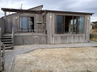 Yarmouth cottage photo - Private decks and private sandy beach on the warmer waters of Nantucket Sound