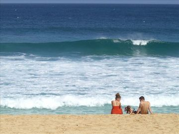 Pupukea house rental - Surf break in front of the house.