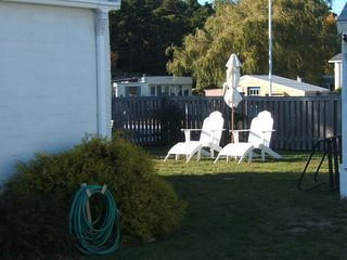 Relax in the back yard - Wellfleet cottage vacation rental photo