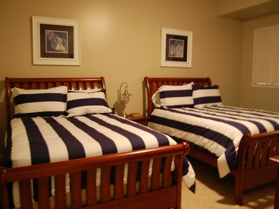 Third bedroom has 2 super comfy, Full beds. Also has a large LED flatpanel TV.