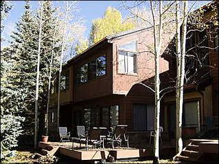 Snowmass Village townhome photo - Quiet back deck