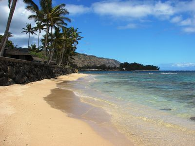 Mokuleia Beach Colony is on a white sandy beach
