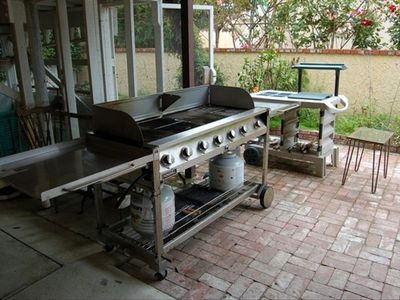 NEW Commercial BBQ - Patio Seats 28 Guests - Ocean Views - Private Rose Garden