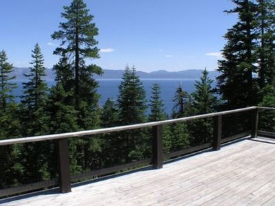 View of Lake Tahoe from deck of Alpenview
