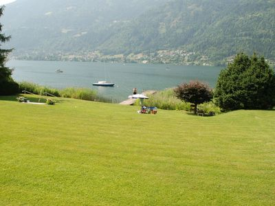 50 sqm luxury apartment right on the shore of Lake Ossiach, terrace, large beach