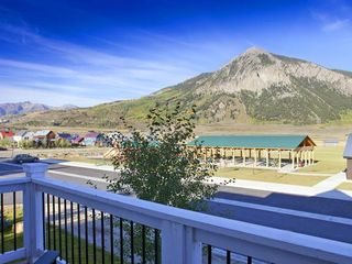 Crested Butte townhome photo - View of Mount CB & Rainbow Park from balcony