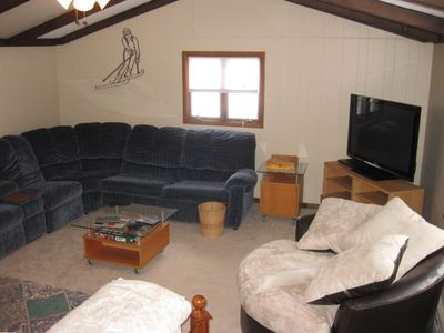 Cadillac cottage rental - Loft area with sleeper sofa