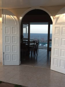Ocho Rios villa rental - This breathtaking main entrance is your first of many kaleidoscopic views.