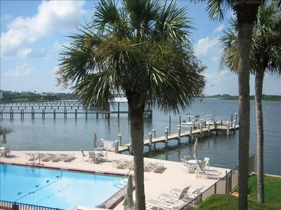 Private, gated pool and boat/fishing dock at Point Matanzas