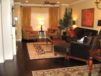 Hot Springs condo rental - View of the living room. Dining area is just to the right ---->