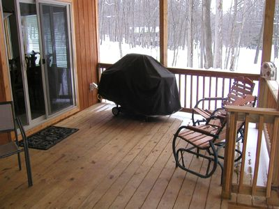 Bellaire / Shanty Creek chalet rental - Front covered porch