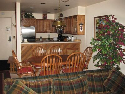 Comfortable and convenient dining area next to kitchen