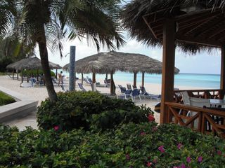 Grand Cayman condo photo - lots of shady cabanas on the beach
