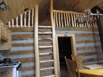 Cabin loft and dining