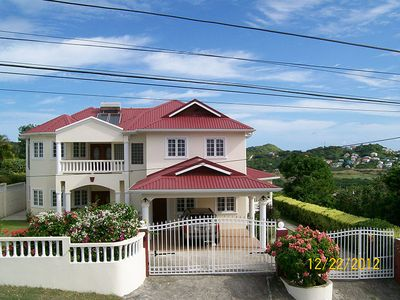 Gros Islet house rental - Frontal view of RayHope House