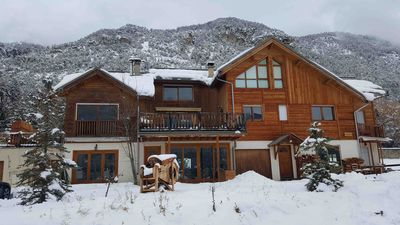 Apt. renovated and comfortable for 10 people chalet - Garden - Terraces