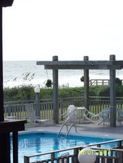 Carolina Beach condo photo - view from deck pool