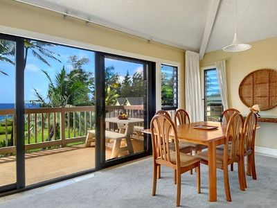 Enjoy your meals and family time, indoors or out on the lanai.