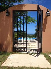 Vieques Island villa photo - The Vintage iron rejas adds to the authentic island charm of our property