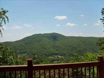 Clayton house rental - Awesome year-round view of Tiger Mountain from our back porch!