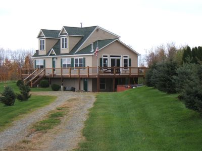 Jay Peak house rental - Over 100 trees on property planted by owners. Come explore!