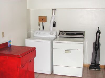 Washer & dryer in lower level.