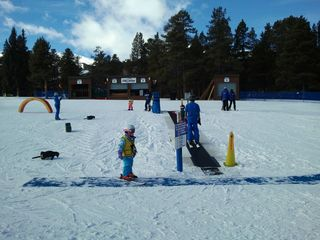 Village at Breckenridge condo photo - Ski School Right Out the Door. Kids Have Fun with the Magic Carpet and Games.