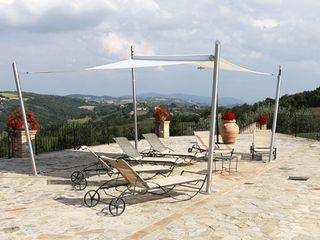 Collazzone farmhouse photo - Large pool terrace