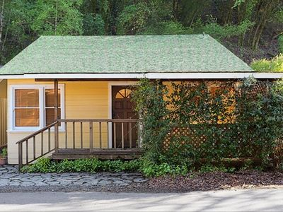 Healdsburg cottage rental - Beautiful cottage on Fitch Mountain. Star Jasmine covered front porch.