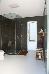 Bathroom window can be opened to the balcony.