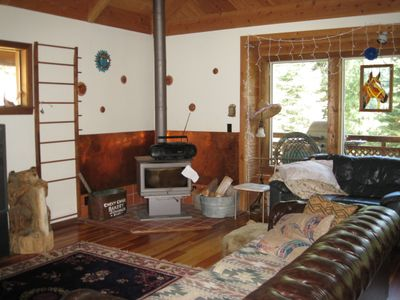 Garden Valley cabin rental - Living Room View 2