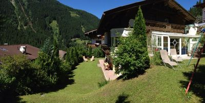 beautiful house with a garden in the Stubai Alps, for 10 to 16 people.