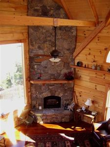 Stone Woodstove Fireplace
