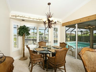 Vacation Homes in Marco Island house rental - Casual Dining Area with Lanai View
