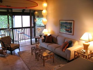 Kahuku - Turtle Bay condo photo - Living room and lanai
