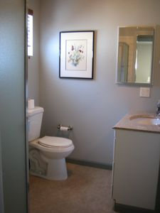 Small Bathroom in Hall w/ Shower