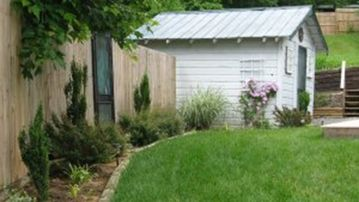 Shed and Side Yard