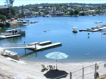 Copperopolis house rental - Private Beach Area and Boat Dock