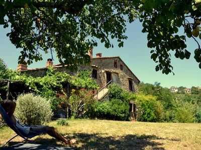 Old Tuscan farm-house, view over the beautiful Mersevalley, ecological pool - Il Tino