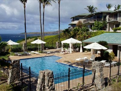 Kapalua condo rental - One of the 3 heated pools is just steps away