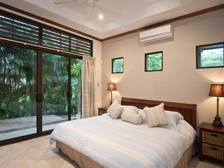 Playa Conchal villa photo - Lower Streetside bedroom, private garden. AC or fresh ocean breezes.