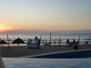 Nuevo Vallarta condo photo - Sunset Dining on the Beach is available for extra fee.