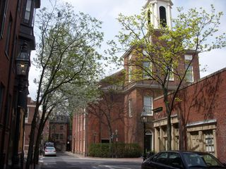 Boston condo photo - Historic Charles Street Meeting House, seen from our street.