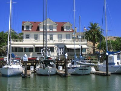 View of Apartment from the water at Glen Cove Marina!