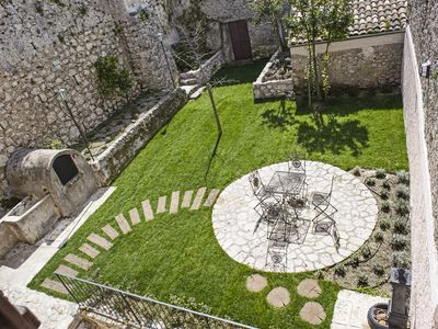 House with two gardens inside the medieval village near the Park of Abruzzo