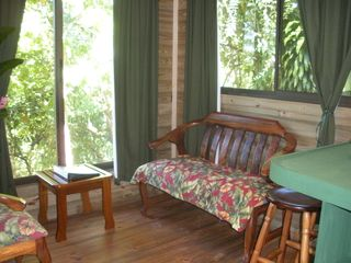 Quepos cabin photo - Living Room with Mountain Views