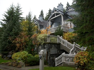 Our Townhome in Treeline is nestled in the forest at the base of Blackcomb Mtn