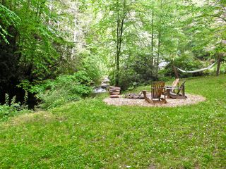 Clayton cabin photo - Roast marshmallows over the fire pit or relax in the Hammock beside the river
